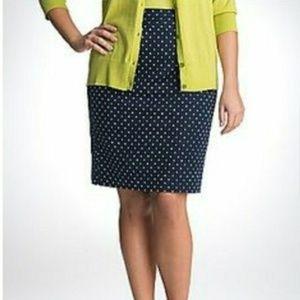 Lane Bryant Polka Dot Pencil Skirt